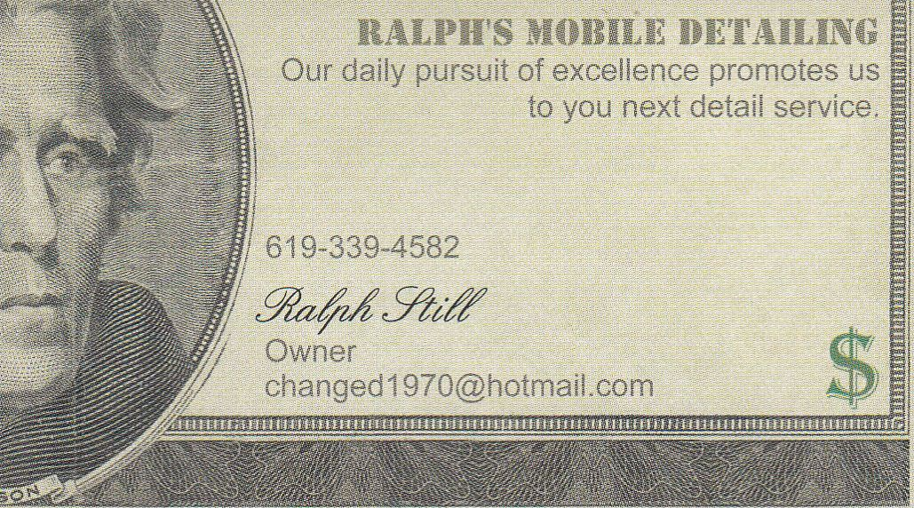 Ralph's Mobile Detailing