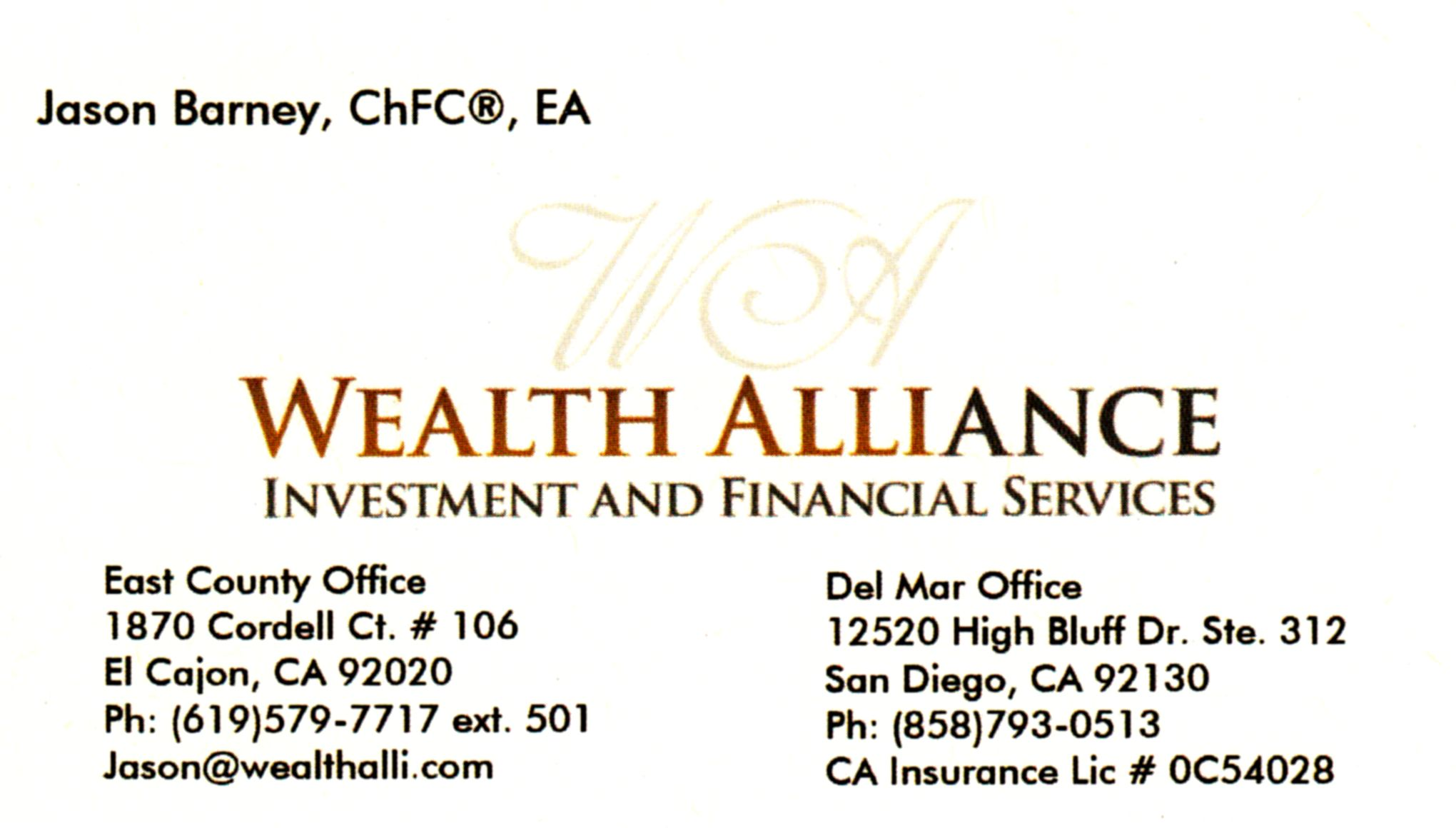 Wealth Alliance investment and financial services
